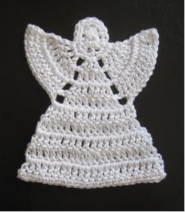 Crochet Patterns Free Angel : Angel Ornament Pattern FaveCrafts.com