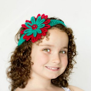 Tropical Teal Crocheted Headband