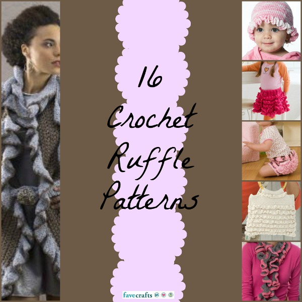 16 Crochet Ruffle Patterns