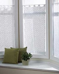 Geometric Square Curtains