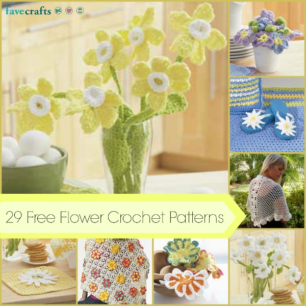 Crochet Patterns And Projects : 29 Free Flower Crochet Patterns and Other Girly Crochet Projects Table ...