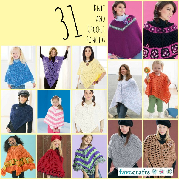 31 Knit and Crochet Ponchos