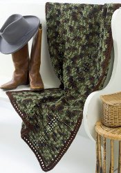 Crochet Afghan Patterns For Guys : Manly Man Throw FaveCrafts.com