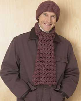 Knitting Patterns For Men s Hats And Scarves : 7 Crochet Scarf Patterns Men will Love FaveCrafts.com