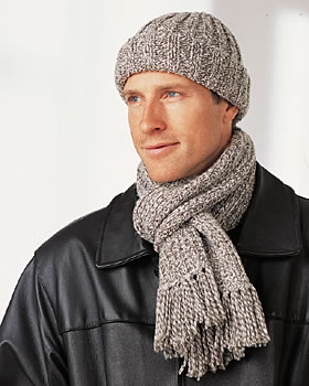 mens hat and scarf pattern