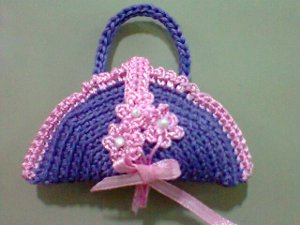 mini crochet purse