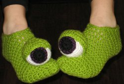 Crochet Monster Socks