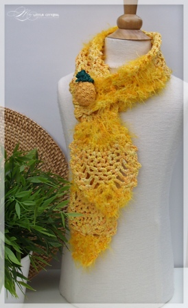 Pineapple Crochet Scarf