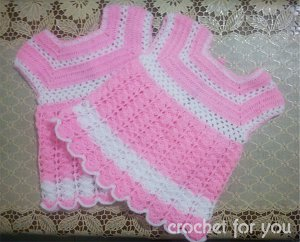 Scalloped Baby Dress