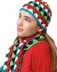 """16 Free Crochet Hat Patterns, Scarves, & Gloves"" eBook"