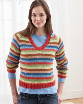 striped sweater Knitting Pattern Central:  539 Cool Knitting Patterns