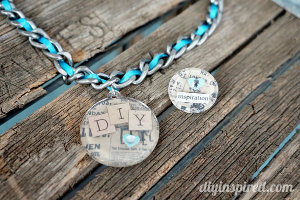 DIY Mod Podge Necklace and Ring
