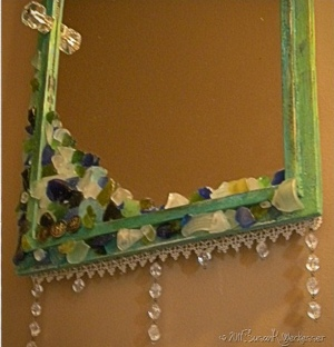 Embellished Antique Mirror