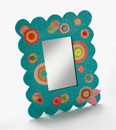 Craft Ideas Mirrors on Button Mirror   Favecrafts Com