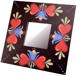 Craft Ideas Mirrors on Hearts And Tulips Mirror   Favecrafts Com
