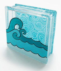 Craft Ideas Glass Blocks on Catch A Wave Glass Block   Favecrafts Com