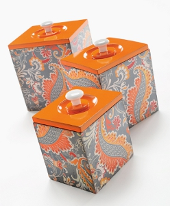 Decoupaged Canister Set