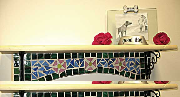 Mosaic Floral Shelf