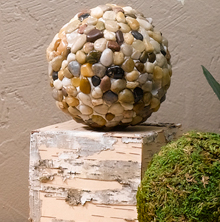 Decorative Pebble Sphere
