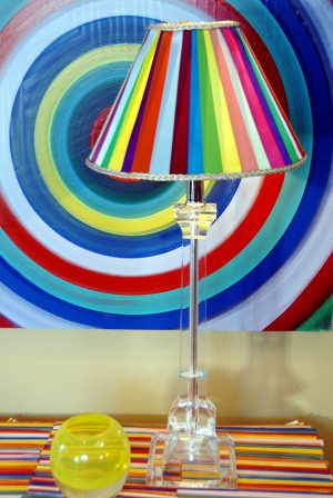 scrap ribbon lampshade