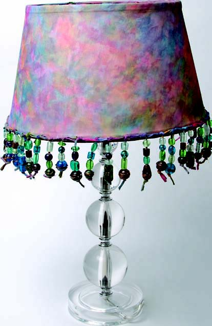 Silk Batik Lamp Shade