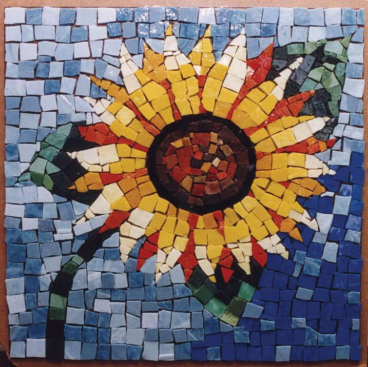 Mosaic Sunflower | FaveCrafts.
