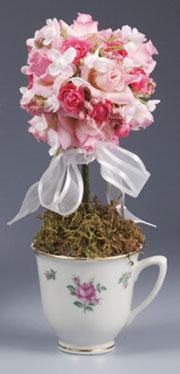 Tiny Teacup Topiary