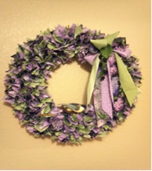 Scraptastic Fabric Wreath