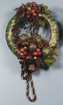 Pearberry Autumn Wreath