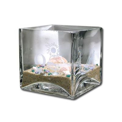 Beach Getaway Cube Vase