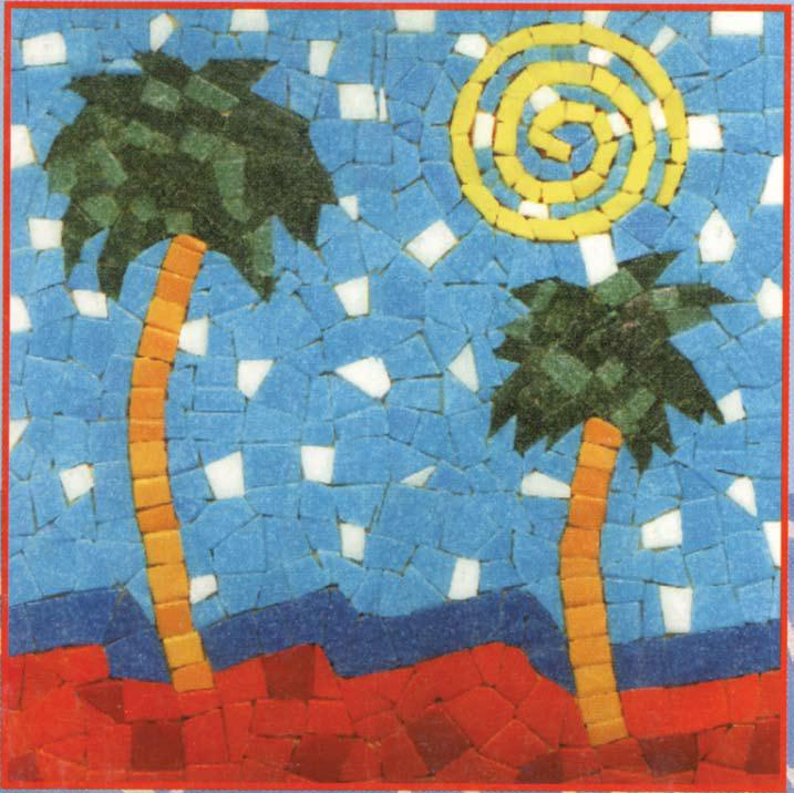 Beach mosaic Design
