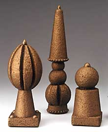 Bronze Finial Trio