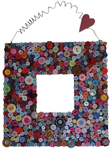 button frame heart
