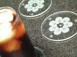 Etched Floral Coasters