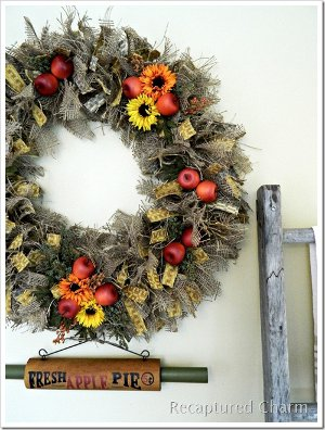 Craft Ideas Apples on Materials Wire Wreath Fresh Apple Pie Sign Or Similar Sign