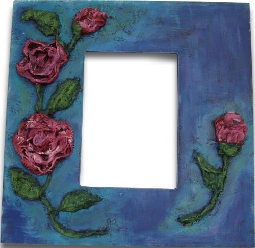 Sculpted Rose Wrap Frame