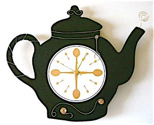 tea pot clock
