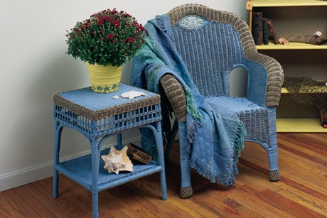 Watercolor Wicker Furniture
