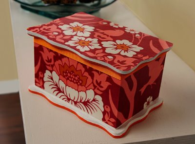Fabric Floral Trinket Box