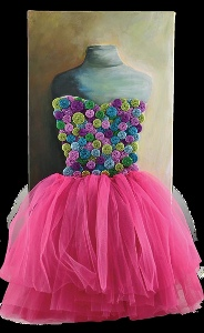 Fluffy Tutu and Button Wall Art