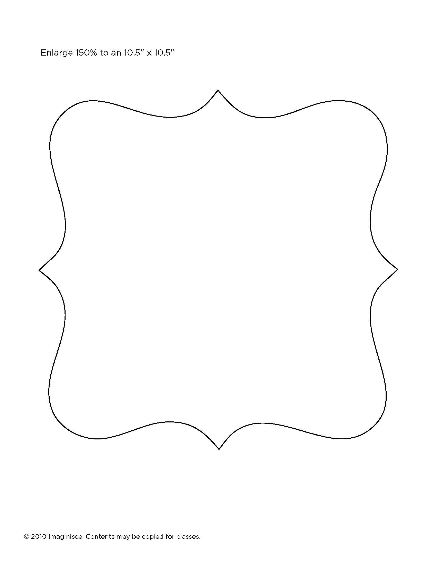 shaped picture frame templates - Dorit.mercatodos.co
