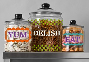 Fun and Colorful Glass Canisters