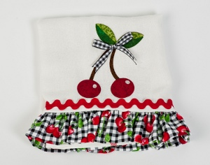 Gingham Cherry Dish Towel