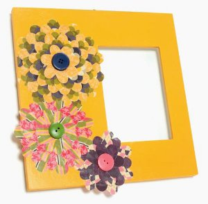 Layered Flower Blossom Frame