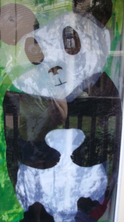 Panda Faux Stained Glass