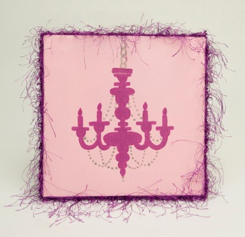 Pink Chandelier Wall Art
