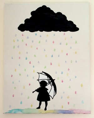 Silhouette Rain Canvas