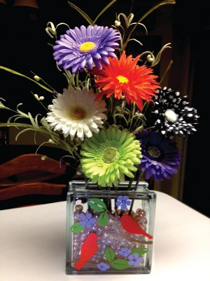 Song of the Violet Flower Block Vase 5 Unexpected Uses for Glass Beads