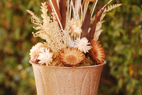 Fall Decoration Idea Stone Vase