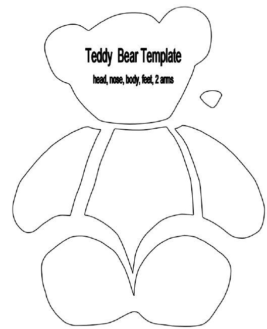 teddy bear outline template